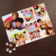 Puzzle photo personnalisé blanc sept collage 30,48 x 41,91 cm