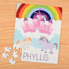Puzzle pour enfants nom personnalisé unicorne, 20,32 x 25,4 cm