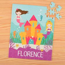 Puzzle pour enfants nom personnalisé sirène, 20,32 x 25,4 cm