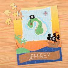 Puzzle pour enfants nom personnalisé pirate, 20,32 x 25,4 cm