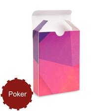 Boîte personnalisée pour cartes de jeu de taille poker