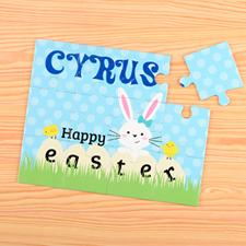 Puzzle pour enfants personnalisé Joyeuses Pâques