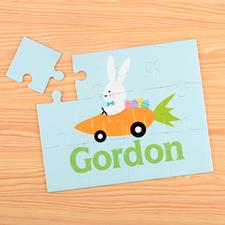 Puzzle pour enfants personnalisé voiture carotte