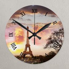 Horloge acrylique photo cadran romain galerie photo impression personnalisée