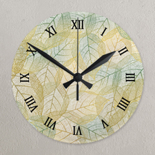 Horloge acrylique photo cadran romain impression personnalisée