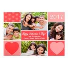 Carte photo Saint-Valentin personnalisée, plate 12,7 x 17,78 cm