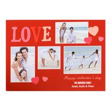 Carte photo Saint-Valentin personnalisée donner de l'amour, plate 12,7 x 17,78 cm