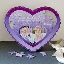 Puzzle en forme de coeur personnalisé Je t'aime