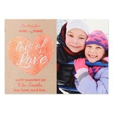 Carte photo Saint-Valentin personnalisée paillettes amour