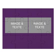 Puzzle collage 2 photos, violet