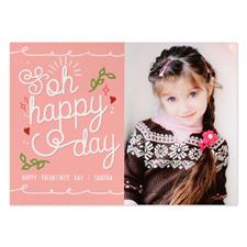 Carte photo personnalisée Oh joyeuse Saint-Valentin