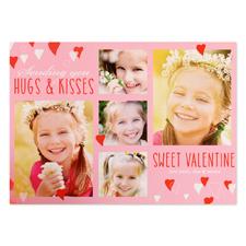 Carte photo personnalisée douce Saint Valentin