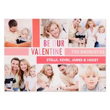 Carte photo personnalisée Soyez notre Valentin