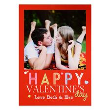 Carte photo personnalisée Joyeuse Saint-Valentin