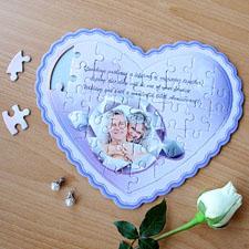 Puzzle en forme de coeur personnalisé ma fille