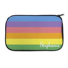 Color Stripe Personalized Neoprene Cosmetic Bag