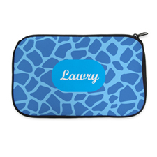 Blue Animal Pattern Personalized Cosmetic Bag