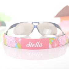 Sangle de lunettes de soleil personnalisée floral rose