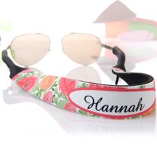 Sangle de lunettes de soleil personnalisée floral rouge et orange