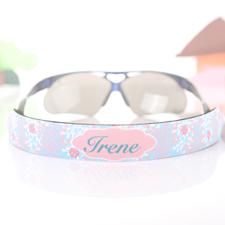 Sangle de lunettes de soleil personnalisée floral turquoise