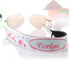 Sangle de lunettes de soleil personnalisé turquoise et flamand rose
