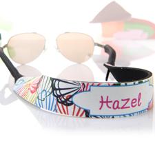 Sangle de lunettes de soleil personnalisée coquilles multicolores