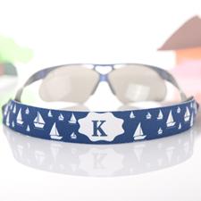 Sangle de lunettes de soleil personnalisée voyage bleu marine