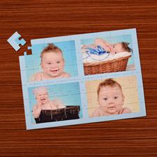 Puzzle photo personnalisé bleu ciel 4 collage 30,48 x 41,91 cm