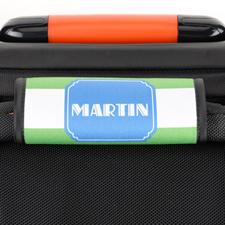 Enveloppe de poignée de valise personnalisée rayure lime