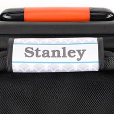 Enveloppe de poignée de valise personnalisée chaîne grise