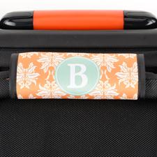 Enveloppe de poignée de valise personnalisée damas orange