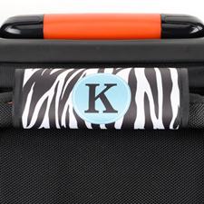 Enveloppe de poignée de valise personnalisée imprimé zèbre