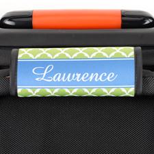 Enveloppe de poignée de valise personnalisée pétoncle lime