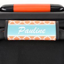 Enveloppe de poignée de valise personnalisée trèfle orange