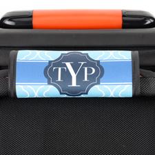 Enveloppe de poignée de valise personnalisée marocain bleu