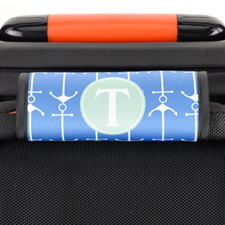 Enveloppe de poignée de valise personnalisée ancre bleu marine