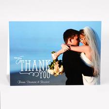 Carte photo de remerciement pour mariage personnalisée