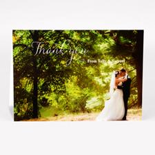 Carte photo de remerciement pour mariage script personnalisé