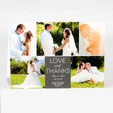 Cartes photo pour mariage personnalisées amour et remerciement