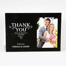 Carte photo pour mariage personnalisée merci du fond de nos coeurs