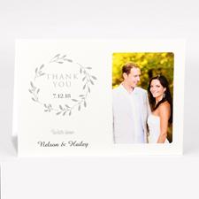Carte photo pour mariage personnalisée merci pour votre générosité avec amour