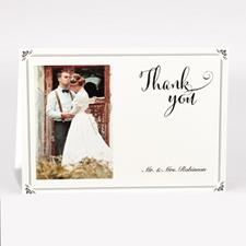 Carte de remerciement photo vintage personnalisée pour mariage