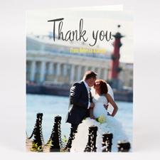 Carte de remerciemnt mariage photo personnalisée
