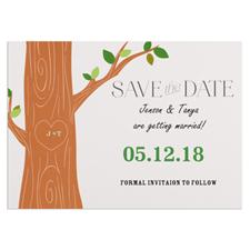 Carte réservez la date personnalisée arbre d'amour