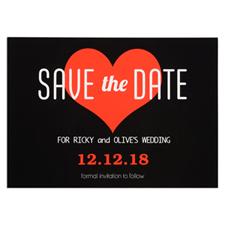 Carte réservez la date personnalisée coeur