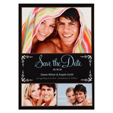 Carte photo réservez la date personnalisée nous allons nous marier