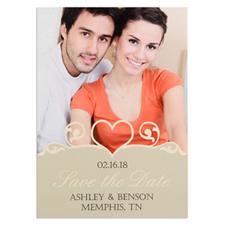 Carte photo réservez la date personnalisée tourbillon coeur