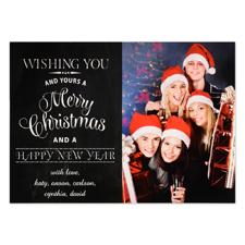 Carte de Noël photo personnalisée vous souhaitant