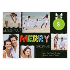 Carte photo personnalisée nous vous souhaitons un joyeux Noël