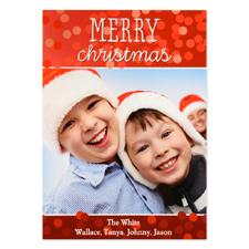 Carte photo  personnalisée joyeux Noël